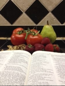 food with Bible