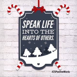 Speak 25 Positive Words Day 23 Positive Woman Connection